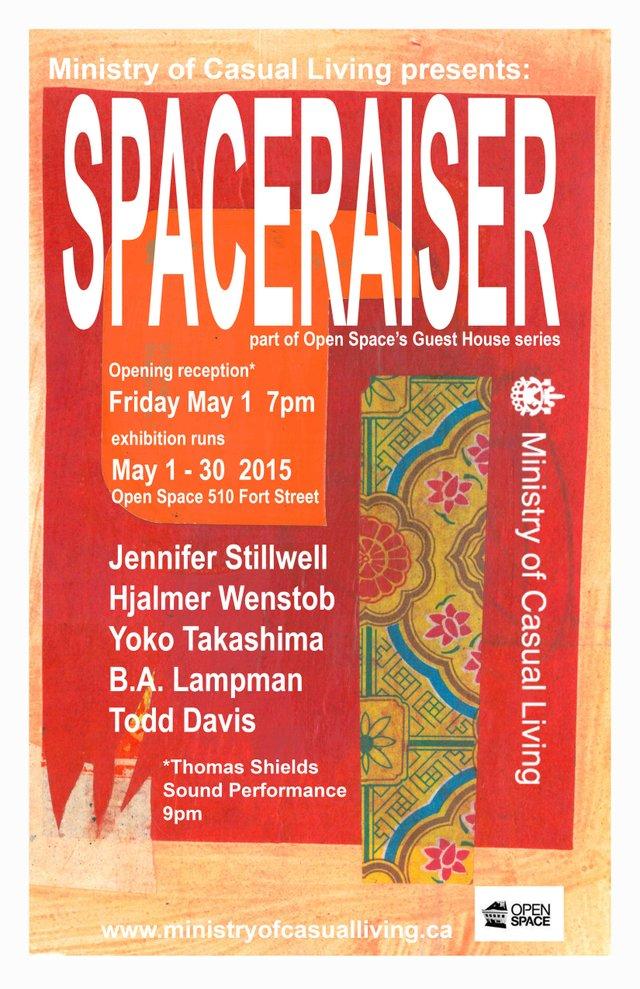 """""""Spaceraiser"""" exhibition poster"""