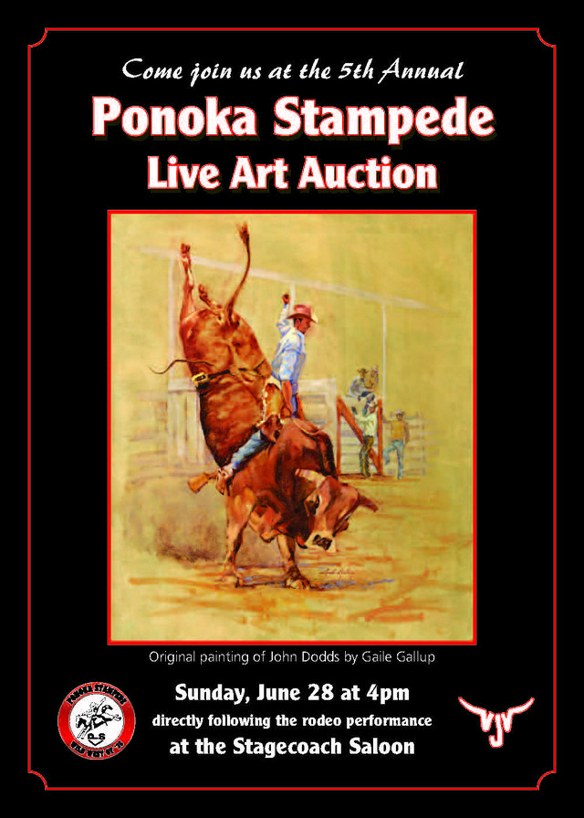 Ponoka Stampede Auction invitation