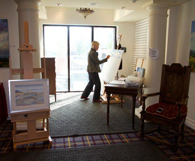 Art Room artist at work