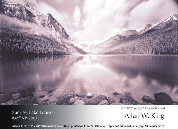 """Allan King, """"Sunrise, Lake Louise"""""""