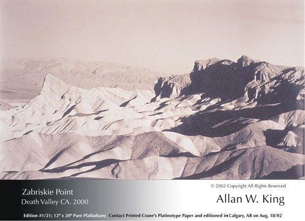 """Allan King, """"Zabriskie Point, Death Valley, CA"""""""