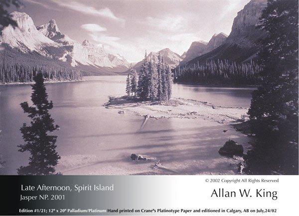 "Allan King, ""Late Afternoon, Spirit Island, Jasper NP"""