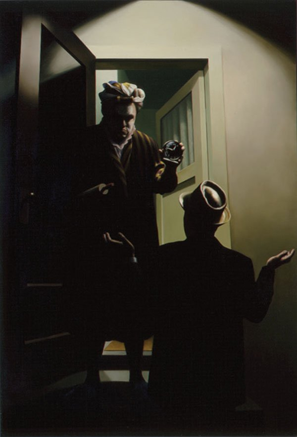 """Chris Cran, """"Double Self-portrait Wanting To Know What I'm Doing Home So Late"""""""