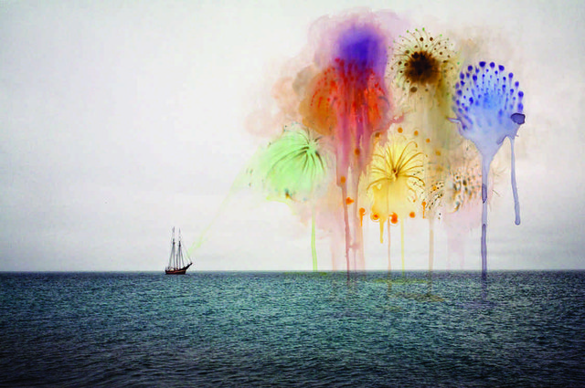 "Sarah Anne Johnson,  ""Fireworks (Arctic Wonderland)"", 2010"