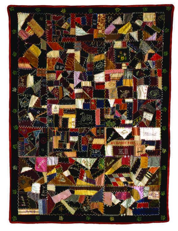 "Maud Darling, ""Crazy Quilt, "" around 1900"