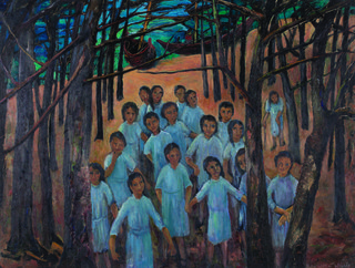"""Dorothy Henzell """"Children in the Wood,"""" date unknown"""