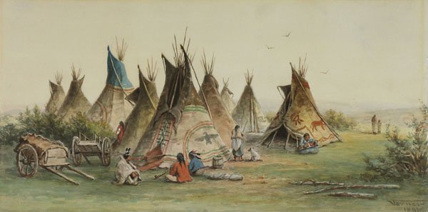 "Frederick Arthur Verner, ""Indian Encampment"", 1891"