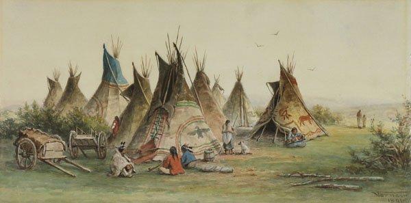 """Frederick Arthur Verner, """"Indian Encampment"""", 1891"""