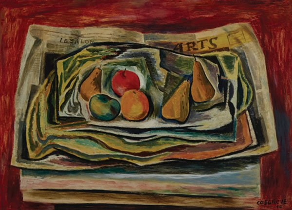 """Stanley Morel Cosgrove, """"Still-life with Journal des Arts"""", 1946"""