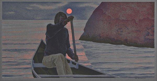 "Alexander Colville, ""Sunrise"", 1970, serigraph 62/70"