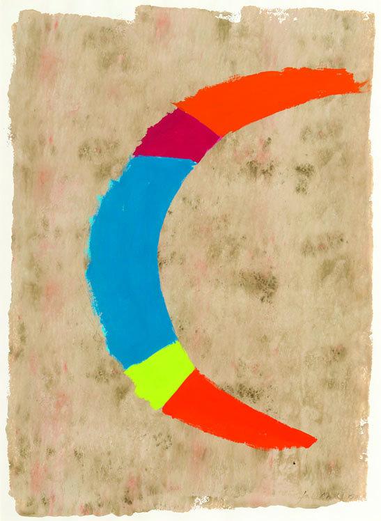 """Jack Bush, """"Quarter Moon"""", 1975"""