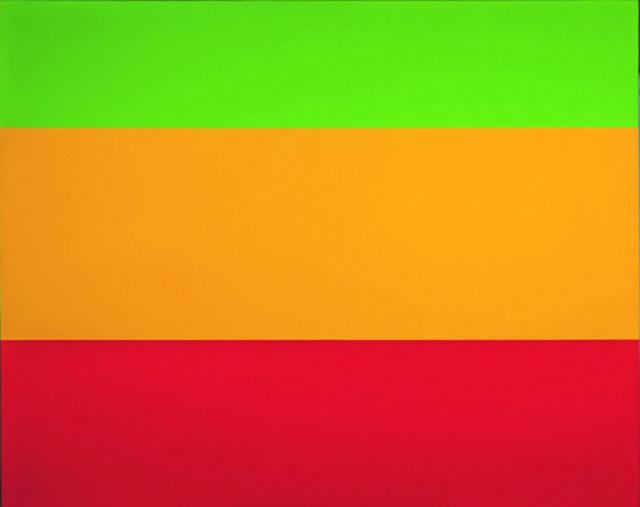"Yves Gaucher, "" Green, Yellow, Red, 1ere version"", 1976"