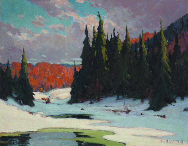 "John William (J.W.) Beatty, ""Winter Break-up, Algonquin Park"""