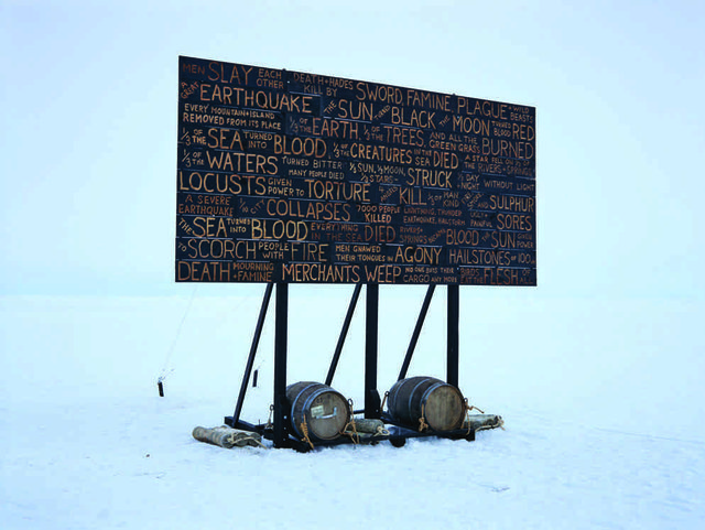 "Kevin Schmidt, ""A Sign in the Northwest Passage,"" 2010-present."