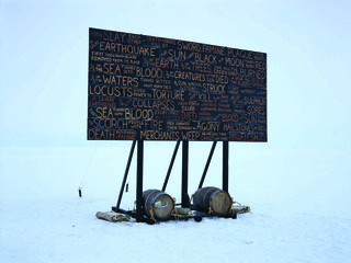 """Kevin Schmidt, """"A Sign in the Northwest Passage,"""" 2010-present."""