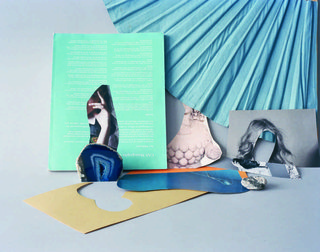 "Celia Perrin Sidarous, ""Folding fan, hands, Venus, geode and hairstyle,"" 2015"