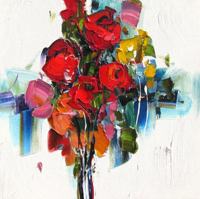 "Kimberly Kiel ""All Afternoon,""  oil on canvas Dimensions: 20"" x 20"""