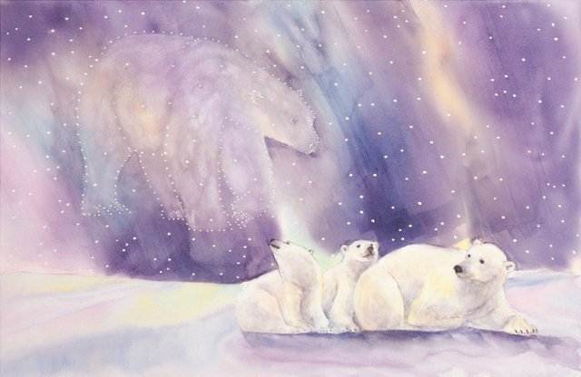 "Jennifer LaBella ""Looking for Mother Bear,""watercolour ""20.25  x 27.25 """