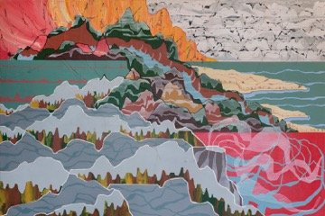 "Neil Peter Dyck, ""Isthmus Range,"" Acrylic on Board Dimensions: 2' x 3'"