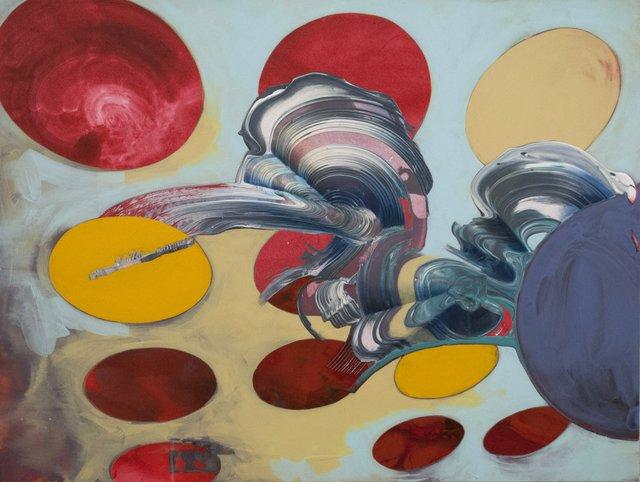 "Scott Cumberland   ""Synthpop,"" 2015   Acrylic on canvas   36"" x 47.75"""