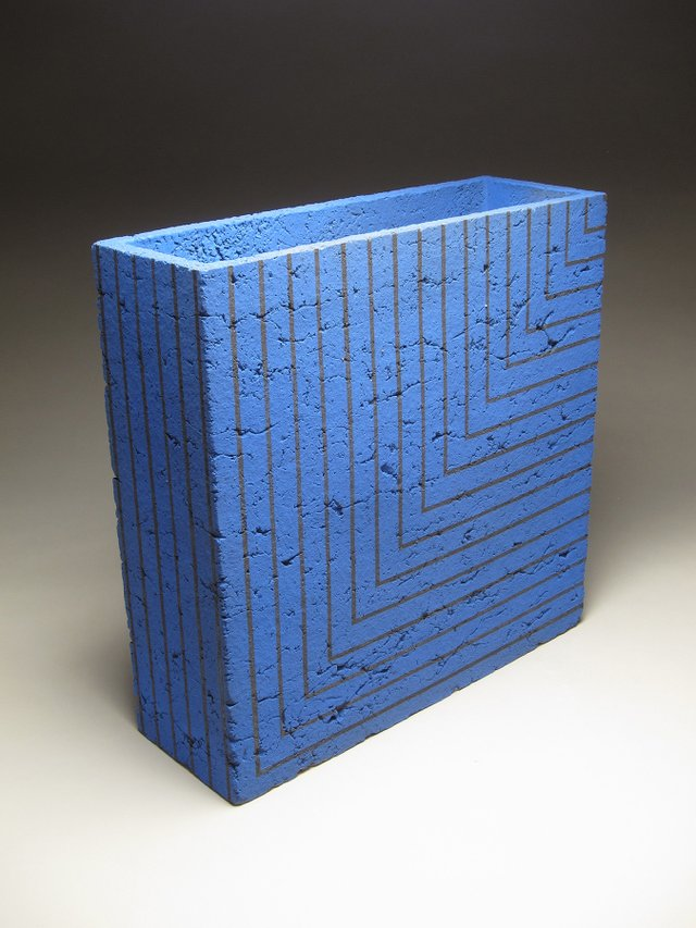 "Zane Wilcox, ""Section 3"",reduction fired stoneware Dimensions: 18 x 18 x 6 in."