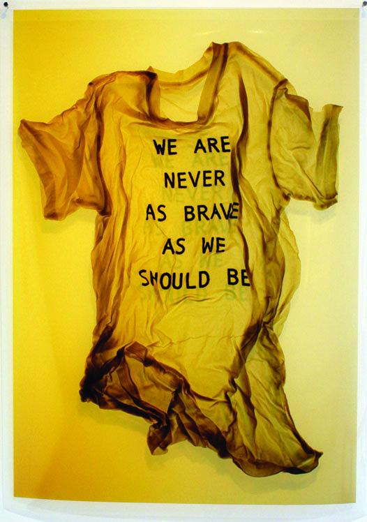 "April Dean, ""We Are Never As Brave"", 2013, inkjet print on film, 40"" x 28"""
