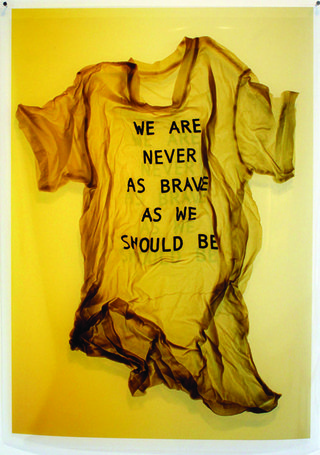 "April Dean, ""We Are Never As Brave"", 2013, inkjet print on film, 40"" x 28"""