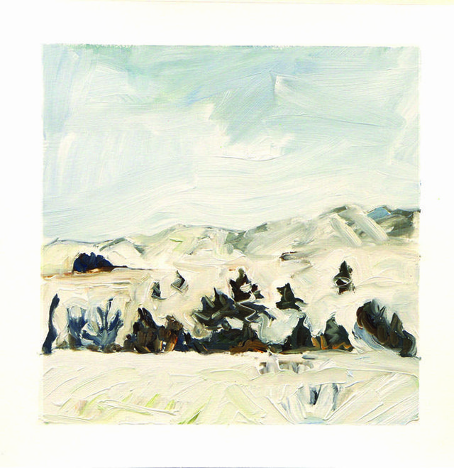 "Edie Marshall, ""Terrain"", 2013-2015, oil on paper, detail"