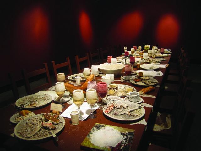 """Elvira Finnigan, """"Feast Table"""", 2013, digital image of installation"""