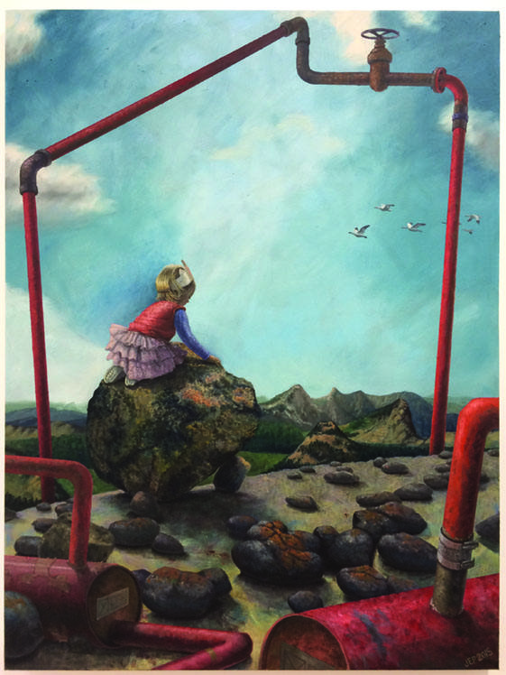 "Jessica Plattner, ""The Princess"", 2015, oil on canvas, 40"" x 30"""