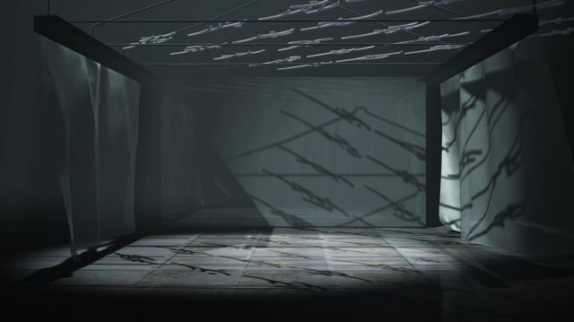 "Yam Lau, Nushu: ""Echo Chambers"", 2014, video still, computer generated animation, detail"