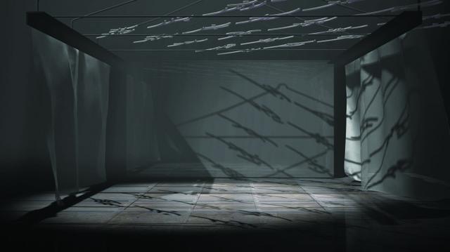 """Yam Lau, Nushu: """"Echo Chambers"""", 2014, video still, computer generated animation, detail"""