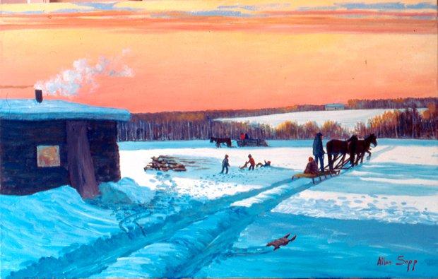 """Allen Sapp, """"A Nice Sunset"""", 1990"""