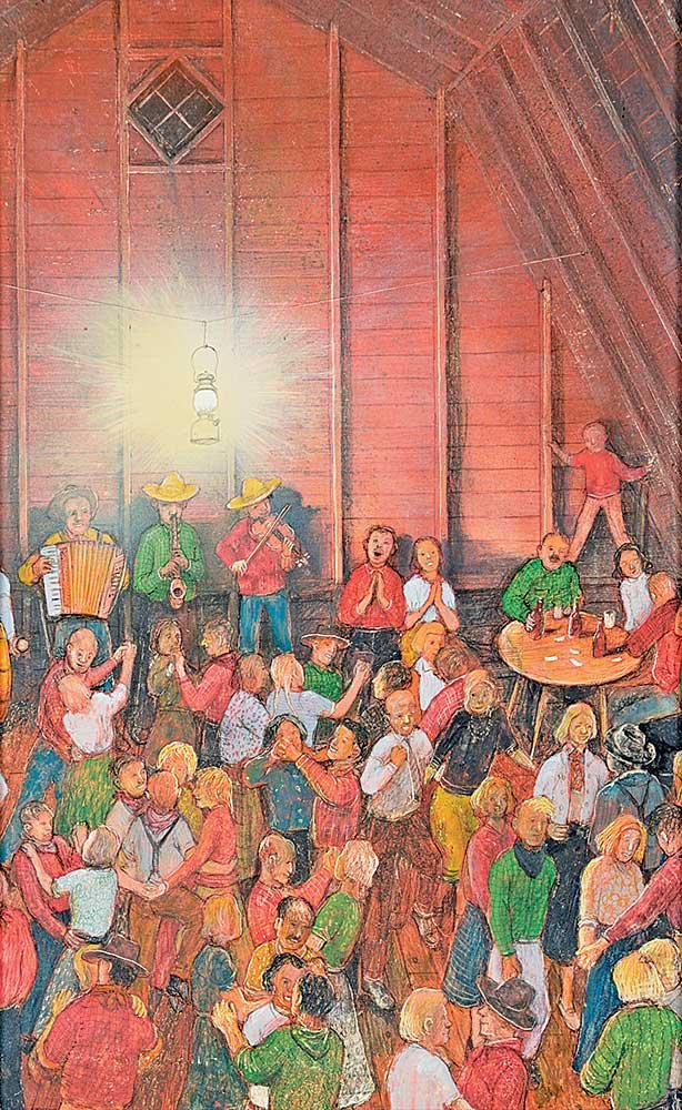 "William Kurelek ""The Barn Dance"" [The Happy Canadian]"