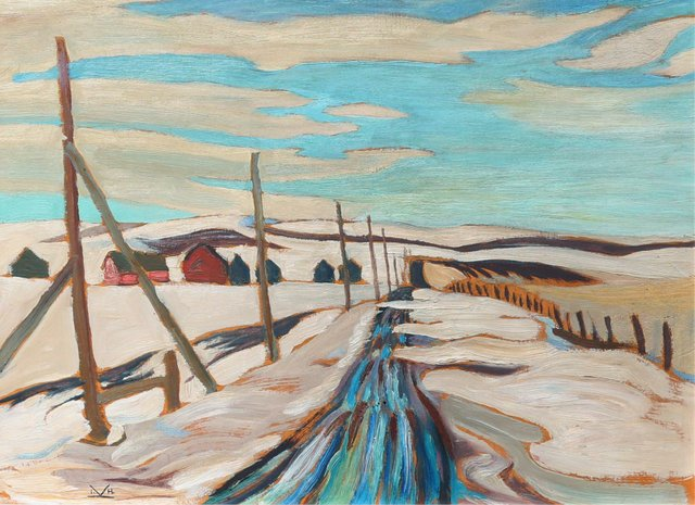 "Illingworth Holey (Buck) Kerr ""PRAIRIE ROAD, MARCH"""