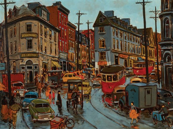 "JOHN GEOFFREY CARUTHERS LITTLE ""RUE FABRIQUE, QUEBEC"""