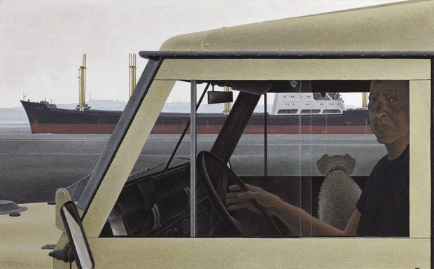 "Alexander Colville ""Harbour"" 1975"