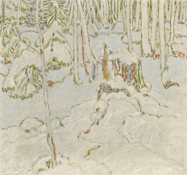 "David Brown Milne ""Canadian Snowy Hemlocks"" 1921"