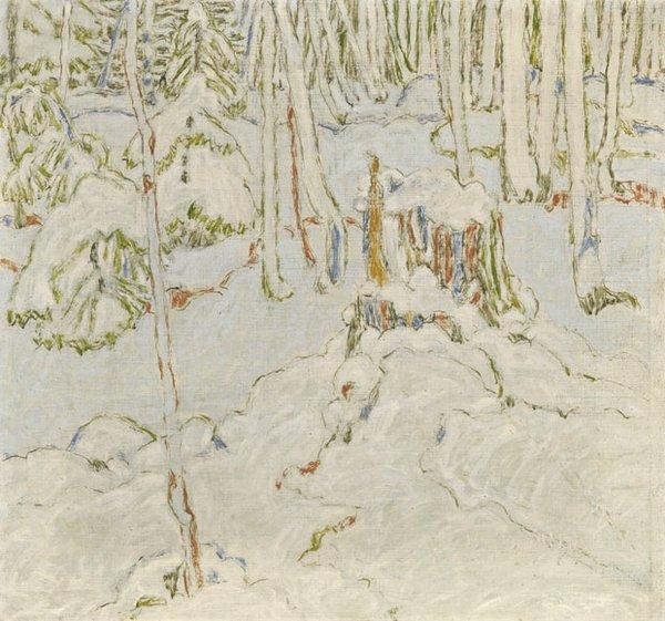 "David Brown Milne ""Canadian Snowy Hemlocks"" 1921"
