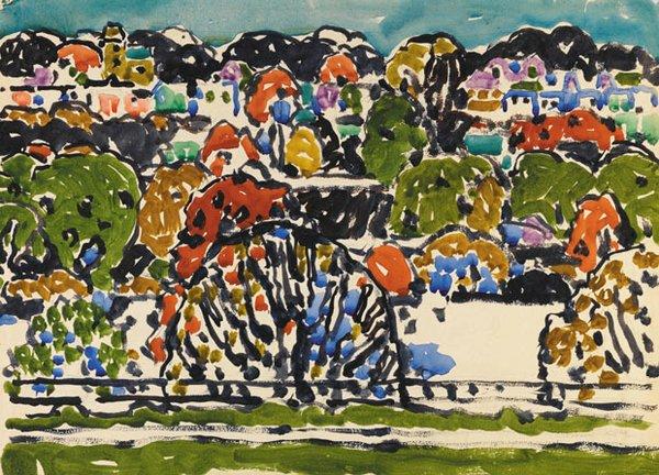 """David Brown Milne """"Bronx Pattern"""" 1914"""