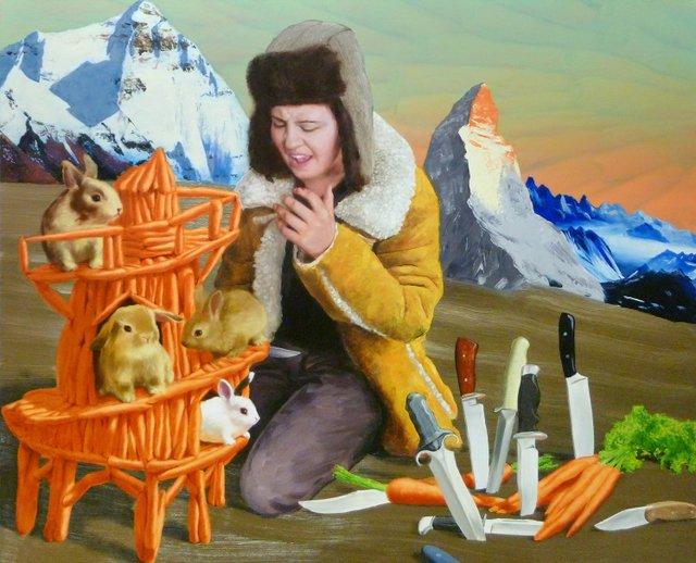 "Gary McMillan, ""Everest,""  Oil on Canvas"