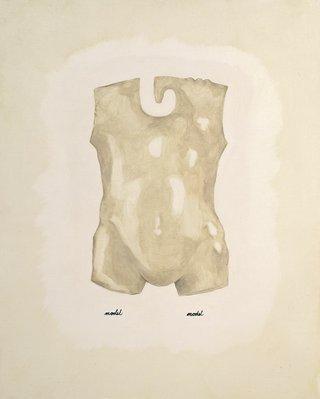 """Erica Mendritzki, """"Model Model"""", 2013, oil on wood panel, 20"""" x 16"""""""