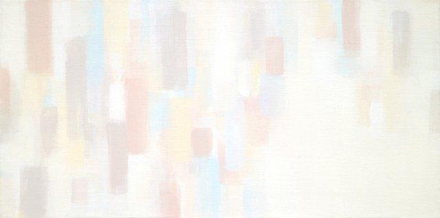 """Suh Seung-Won, """"Simultaneity 13-113"""", 2013,Acrylic on Canvas, 15-3/4"""" x 31-1/2"""""""