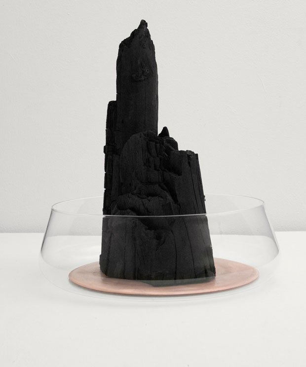 "Formafantasma, ""Charcoal design objects,"" 2012, detail Courtesy Studio Formafantasma"