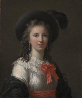 """Élisabeth Louise Vigée Le Brun """"Self-Portrait with Cerise Ribbons"""", c. 1782"""