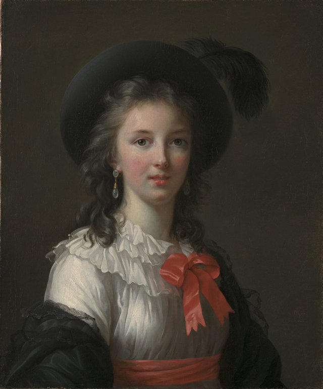 "Élisabeth Louise Vigée Le Brun ""Self-Portrait with Cerise Ribbons"", c. 1782"