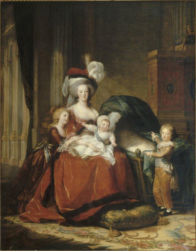 """Élisabeth Louise Vigée Le Brun, """"Marie Antoinette and Her Children"""", 1787"""