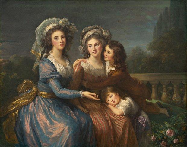 """Élisabeth Louise Vigée Le Brun """"The Marquise de Pezay and the Marquise de Rougé with Her Two Sons"""", 1787"""