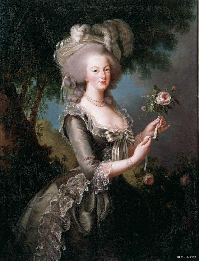 """Élisabeth Louise Vigée Le Brun, """"Marie-Antoinette with a Rose"""", 1783"""