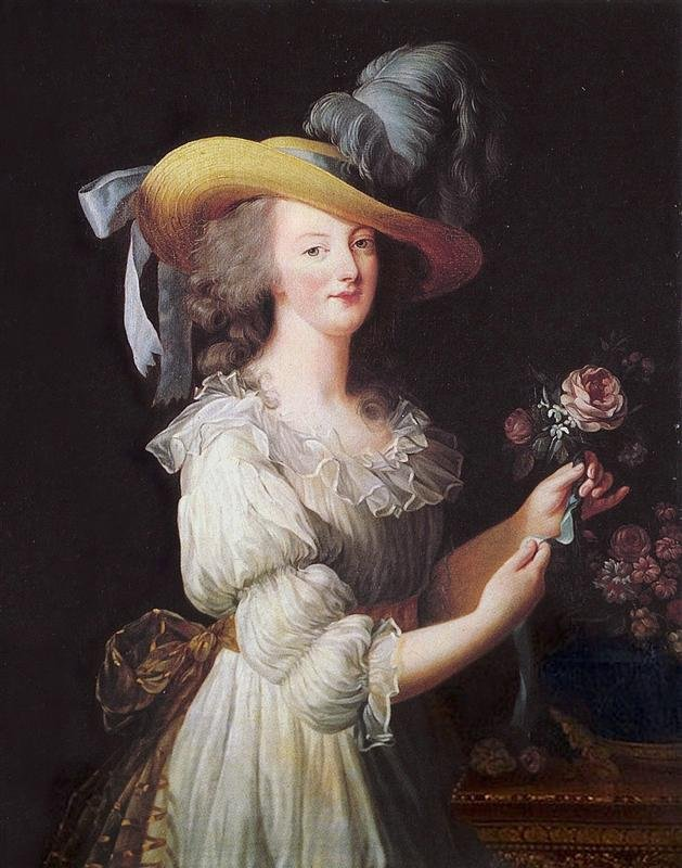"Élisabeth Louise Vigée Le Brun, ""Marie Antoinette in a Muslin dress""  1783"